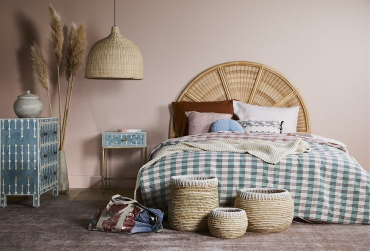 Avery Arch Queen Bedhead available through Minted Interiors email tess@mintedinteriors.com Image: GlobeWest