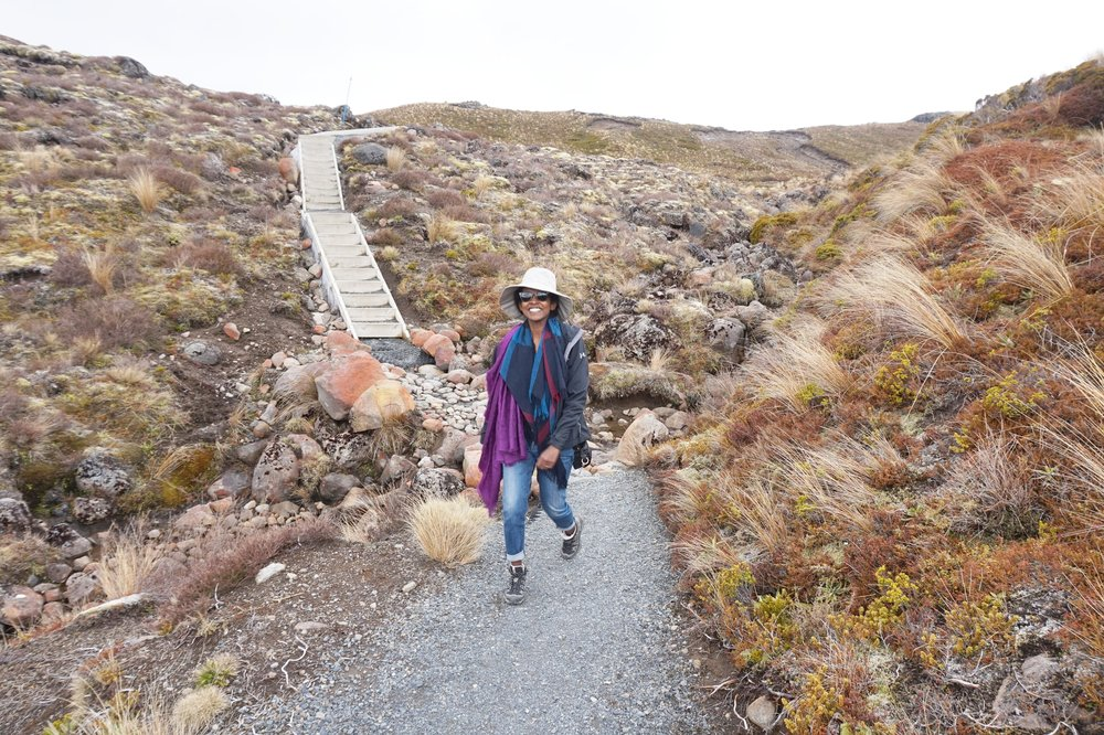 Salwa Petersen Tongariro National Park Hiking New Zealand.JPG