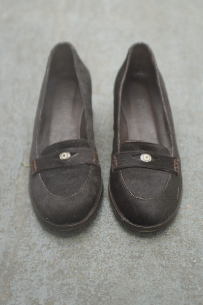 Calf Skin Loafer with Glass Eyes