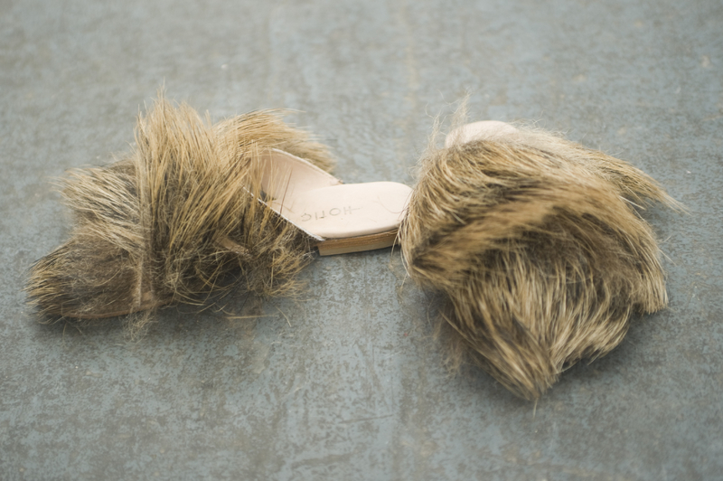 Boar Fur Slippers
