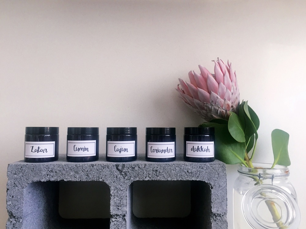 DIY recycled jar spice rack