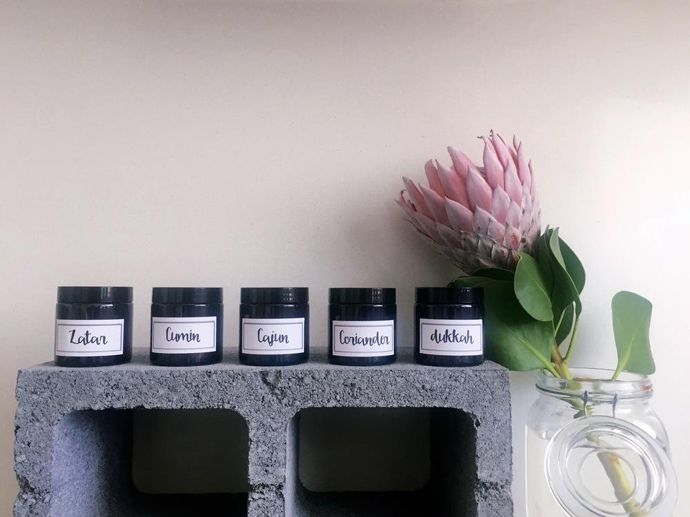 DIY recycled jar spice rack