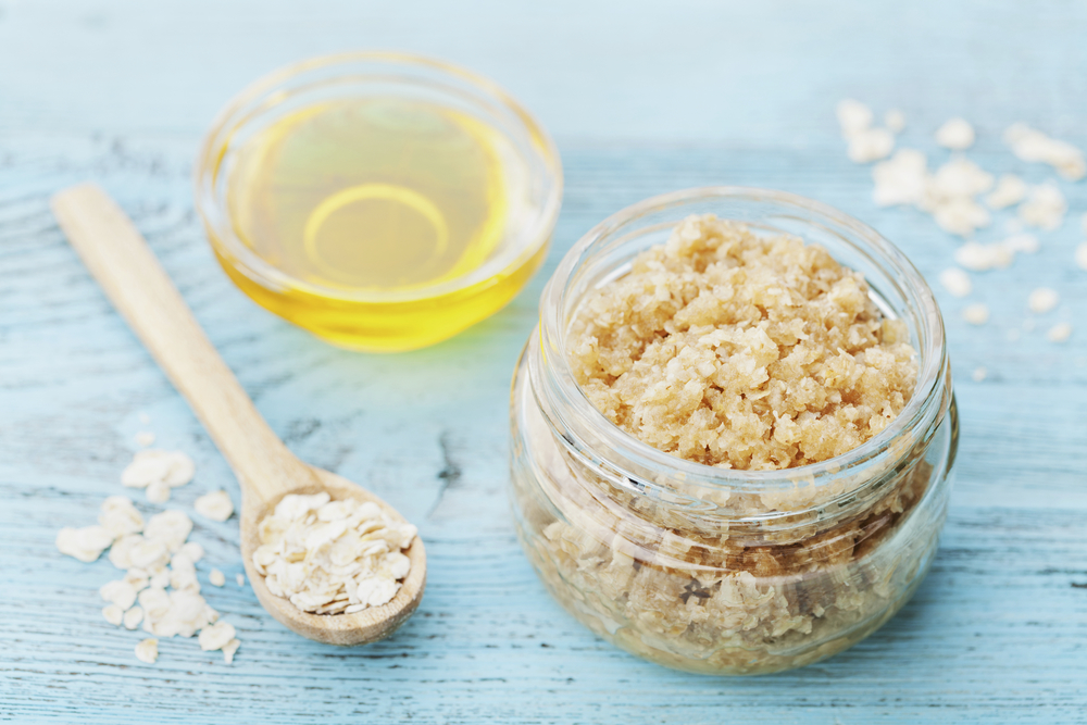 Oat body scrub