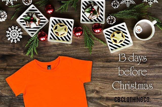 Only 14 days until Christmas, so this is just a reminder that CB Clothing are closing from 12.00pm on Friday 21st December, and are reopening on Monday 14th January 2019. This means that the last day for orders will be Thursday 20th at 1.00pm AEDT