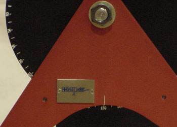 Figure 5 - Photo Shows Latch Release Angle Set at 151 Degrees.