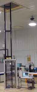 Figure 3 - Explosive Materials Drop Tower with 20-Foot Drop Height