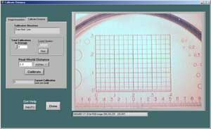 Figure 6 - Real World Coordinate Calibration Screen