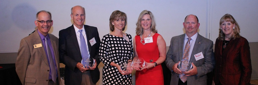2015 Best Places to Work Category Winners from L to R: City of Frederick Mayor Randy McClement, Tony Benedetto - ASI, Michelle Michael - AstraZeneca/MedImmune, Victoria Johnston - Nymeo, Richard Fouke - Antietam Technologies, Frederick County Executive Jan Gardner