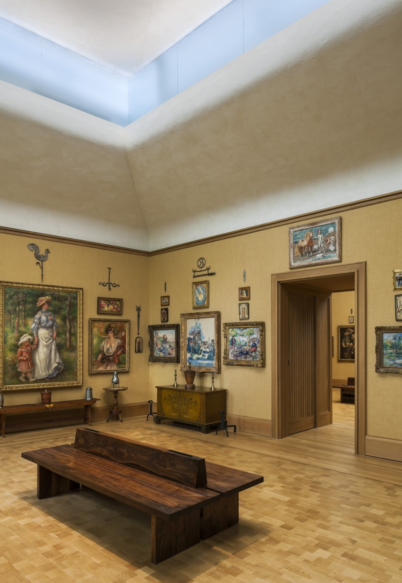The Barnes Foundation galleries. Photo by Tom Crane and Benjamin Riley