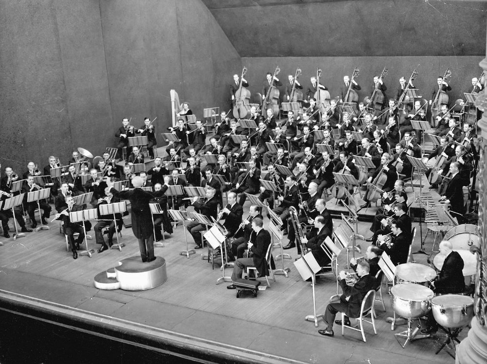 Leopold Stokowski and The Philadelphia Orchestra. Photo: Philadelphia Orchestra Association Archives