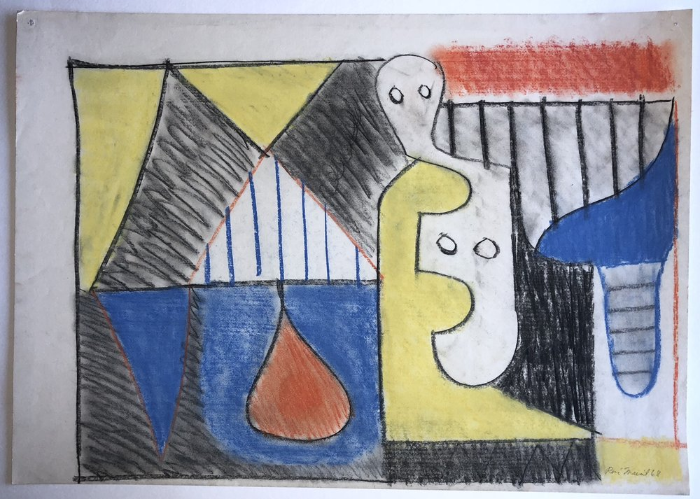 René Marcil Still Life Pastel on paper Signed lower right 1968 16.5 x 23.25 in $3,000