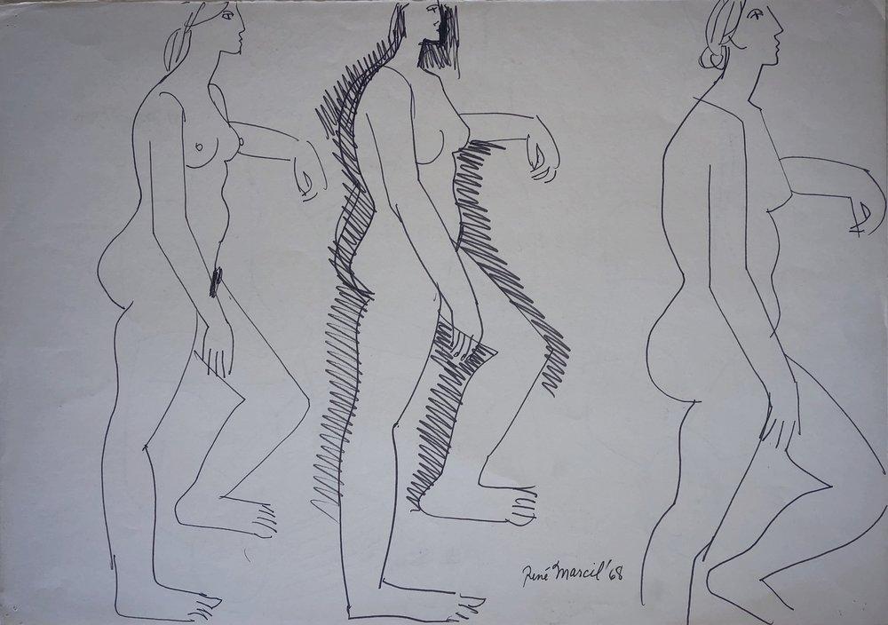 Verso sketch. See left for artwork details.