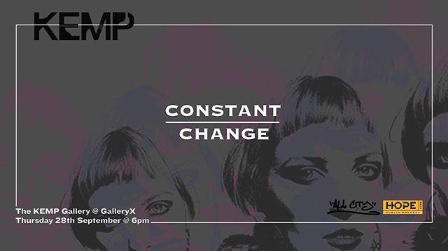 @kempartist exhibition CONSTANT/CHANGE dropping on Thursday 28th Sep. stay tuned for updates from now til then. #dublinart #urbanart #stencilart #streetart #plusçachange #spraypaint #urbanartgallery #portraits