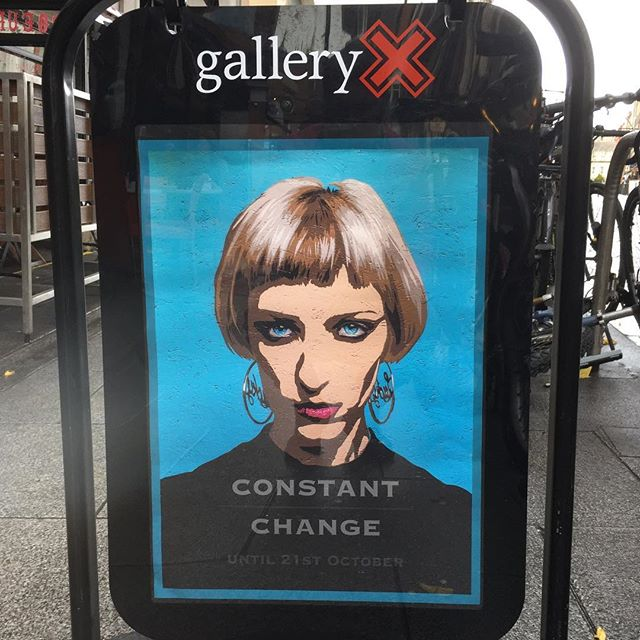 We are open for business today til 5pm. Pop in to see the wonderful exhibition Constant/Change by @kempartist #spraypaint #dublinart #stencilart #urbanart #urbanartgallery #irishart #portrait