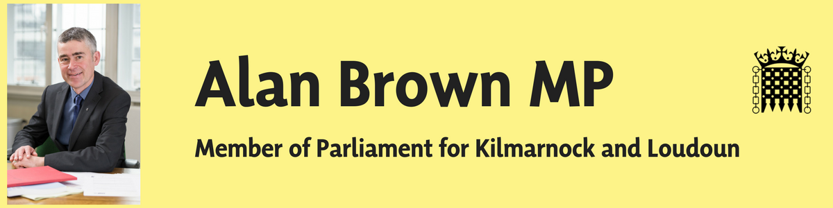 Alan Brown MP for Kilmarnock and Loudoun