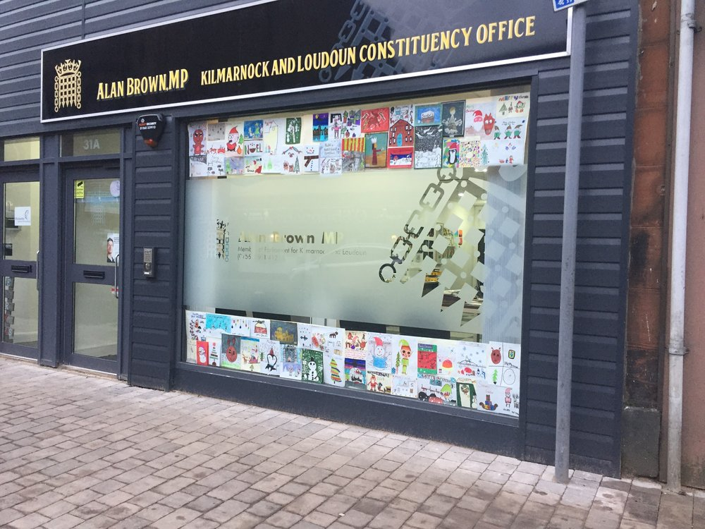 A selection of the best designs in my constituency office window.