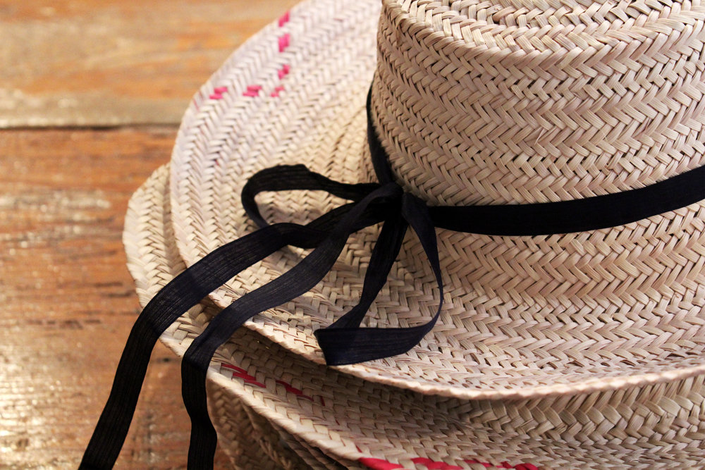 Beautiful handmade straw hats