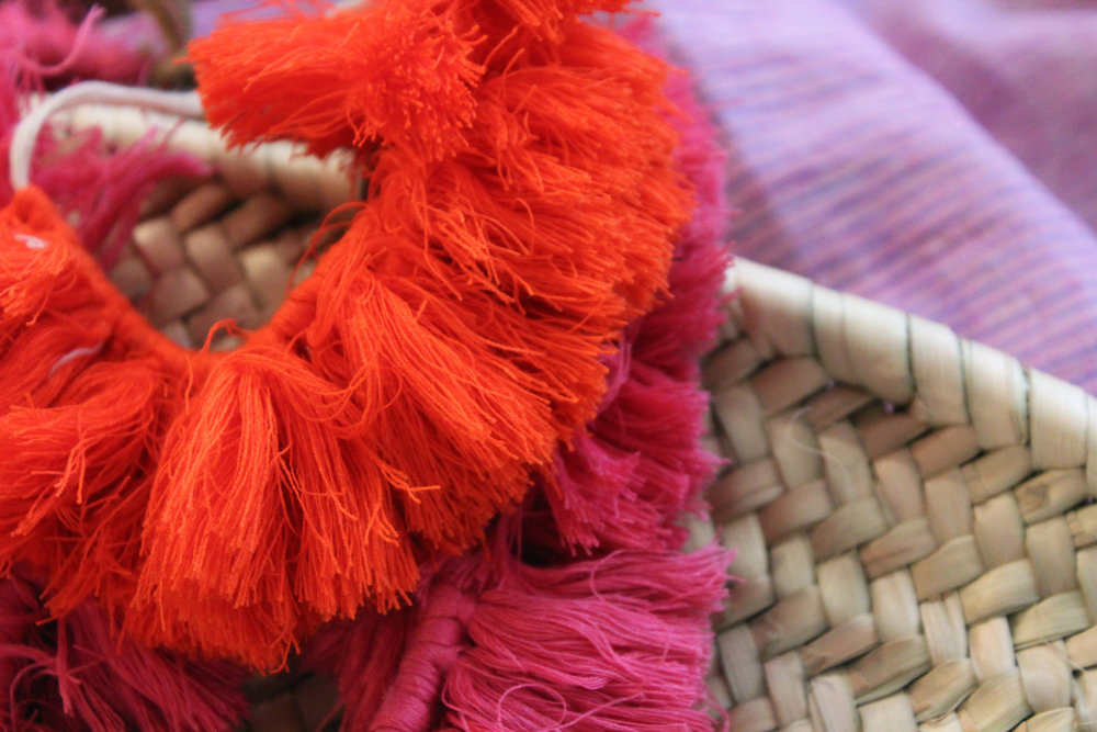 Vibrant cotton tassels