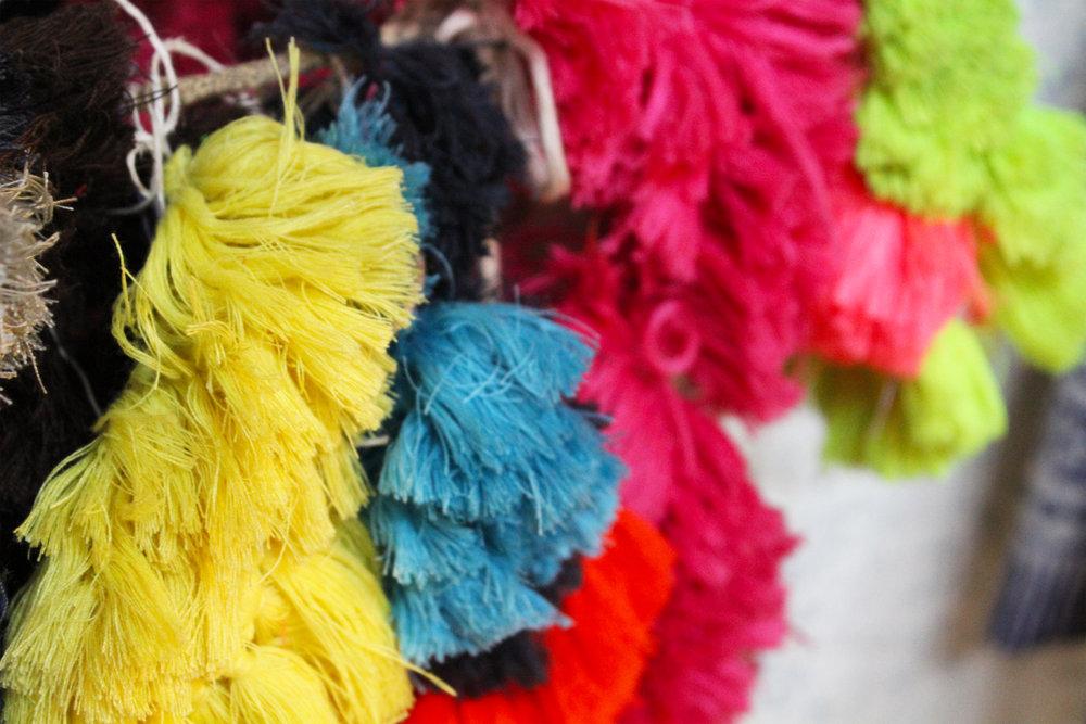 Indian cotton tassles