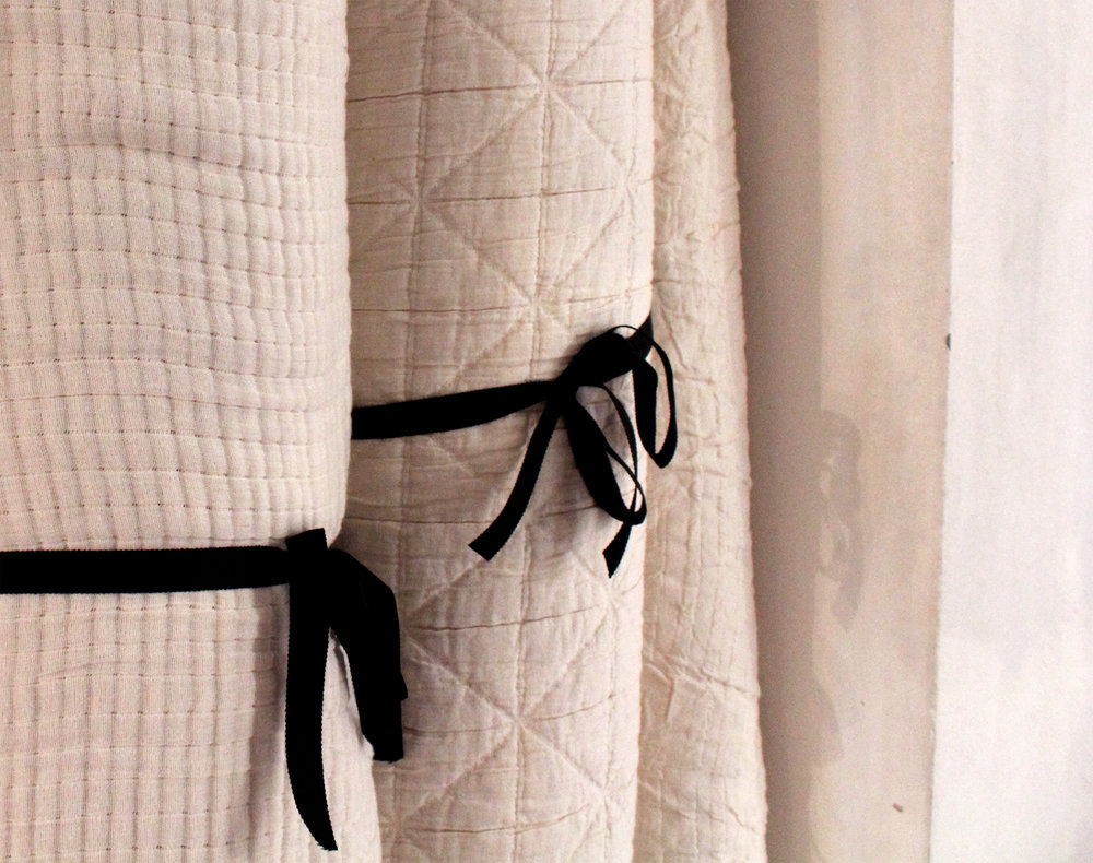Quilted natural cotton