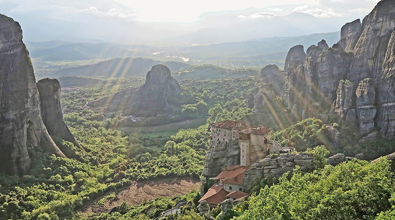 The monasteries and monoliths of Meteora, Greece.