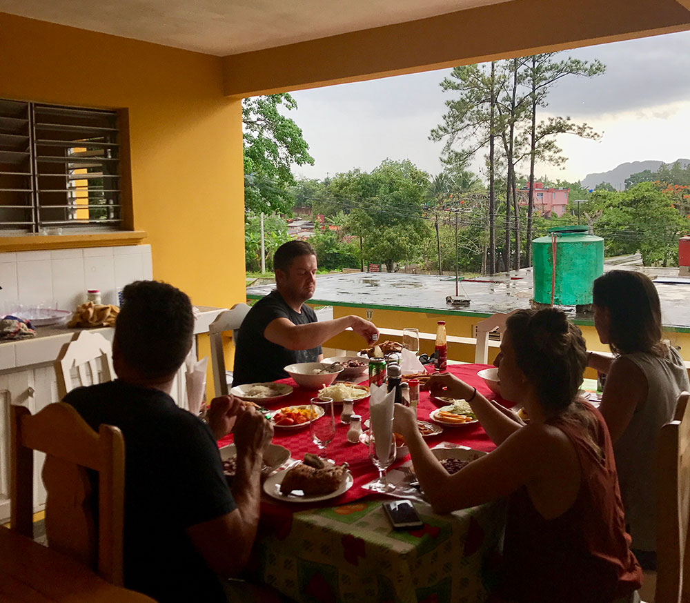 Dinner at Juany and Daniels, our  casa particulares  in Viñales, Cuba.