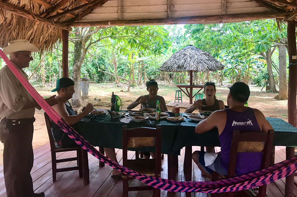 Lunch at Raul's Farm in Viñales, Cuba.