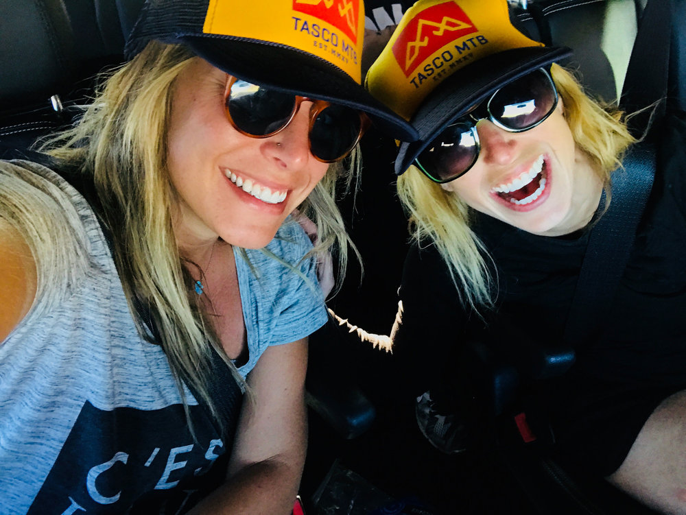 Rocking our TASCO MTB hats on last week's road trip.