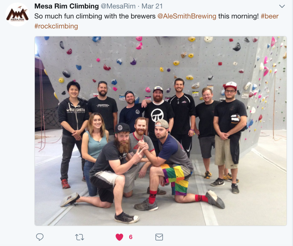 Mesa Rim AleSmith team building Twitter.png