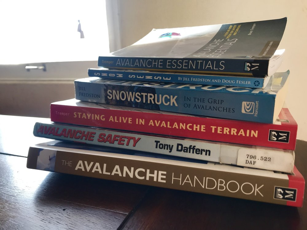 Recommended reading includes Snow Sense and Avalanche Essentials.