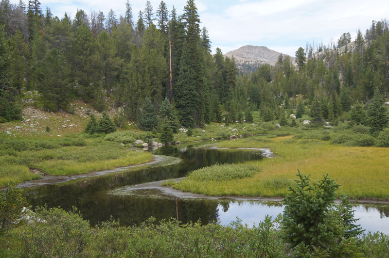 Hundreds of streams and unnamed lakes dot the Wind River Range.