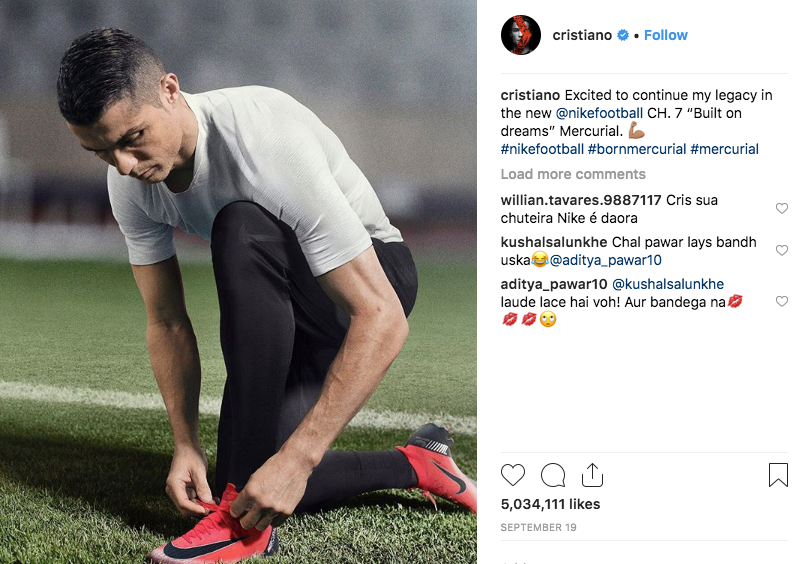 Cristiano Ronaldo and Nike.