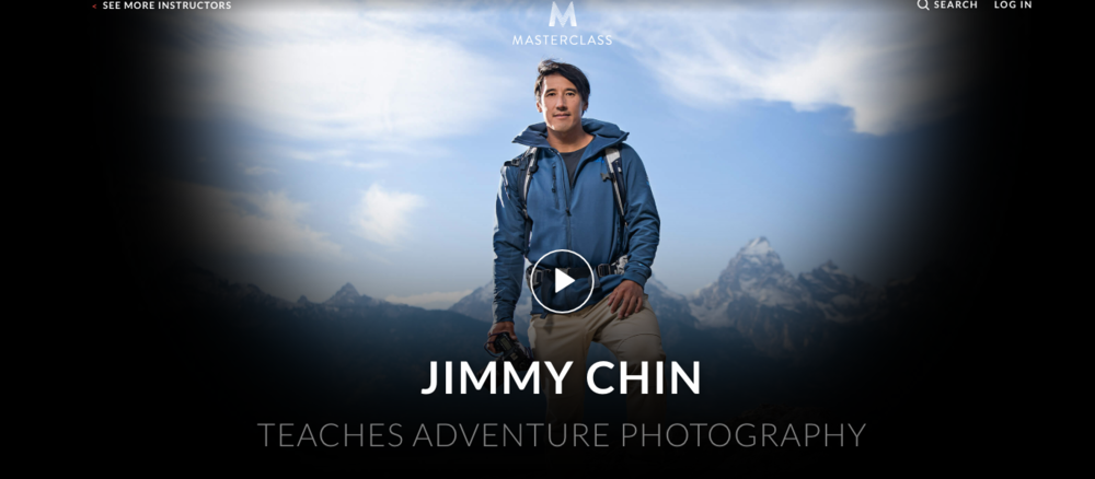 Learn how to take better adventure photos and videos through Jimmy Chin's MasterClass!