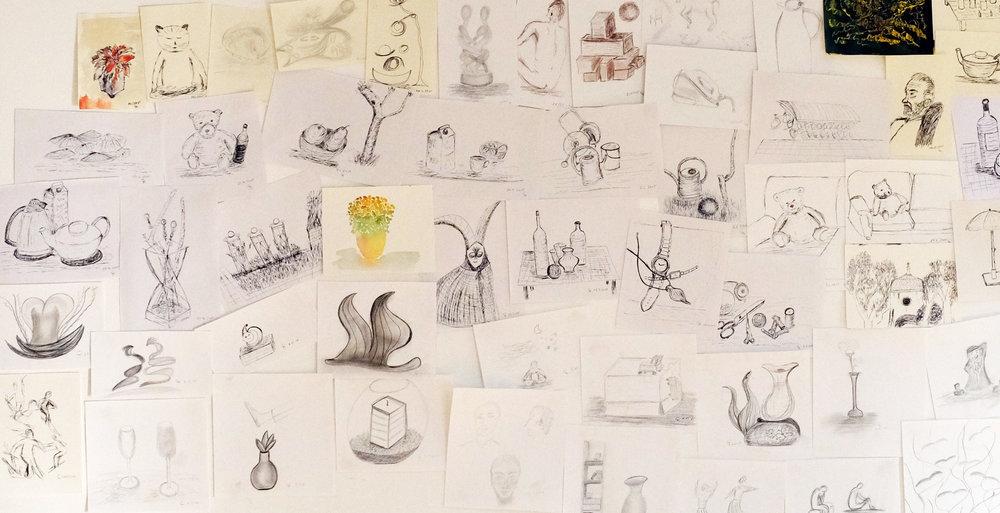 Zeichnungen von Christine Kohl