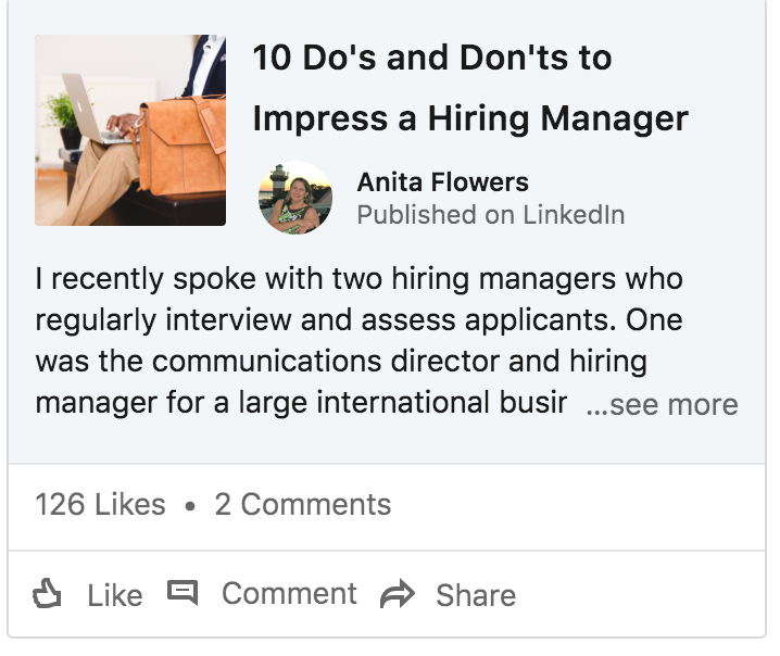 linked in article screen shot