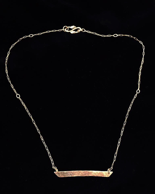 bar pendant with decorative chain and snake clasp - Decorative Chain