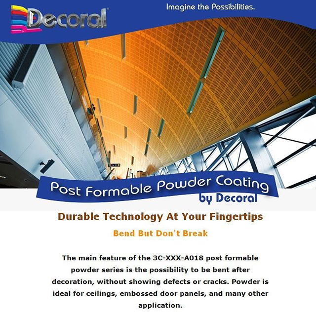 Durable #Technology At Your Fingertips with # Decora System #powdercoating.