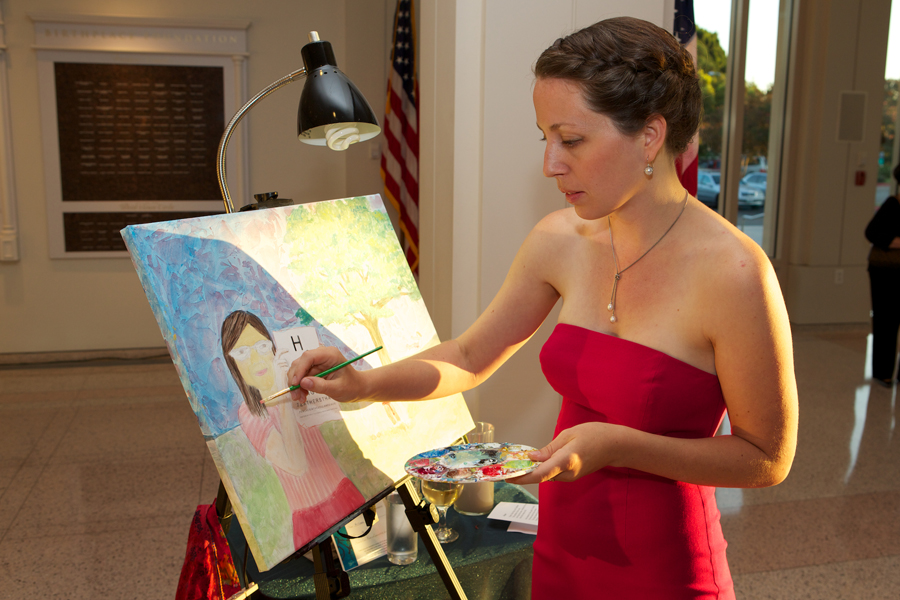 Live Event Painter at Gala Fundraiser