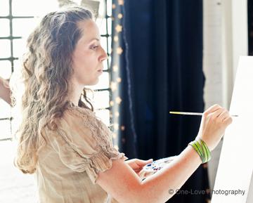 Arlissa Vaughn Painting Live at Wedding