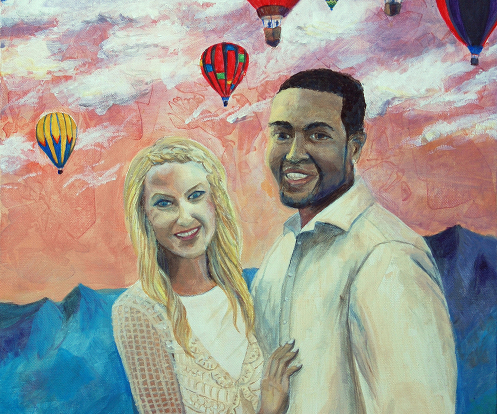 Love is in the Air - Wedding Portrait Painting - Bridal Art - cropped.jpg