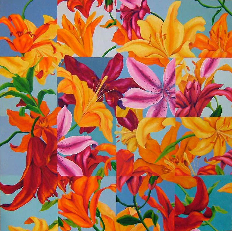"Lily Field , Oil on canvas, 50"" x 50"", 1993"