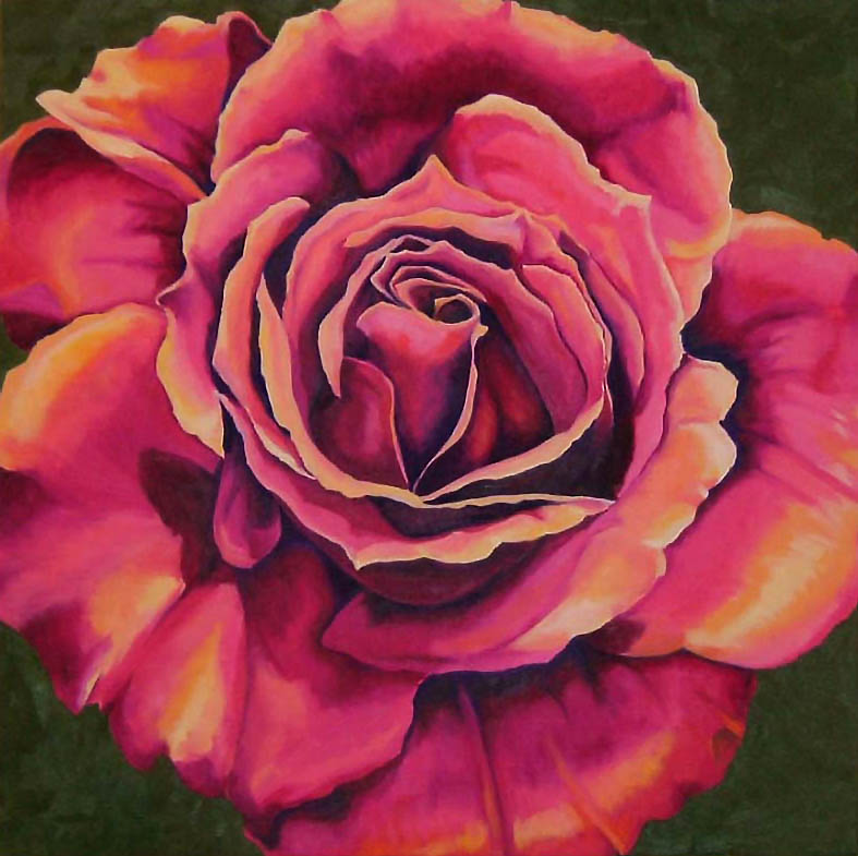 "Rose 2 , Oil on Canvas, 28""x28"", 2005"