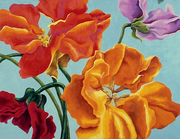 """Spring Sky , Oil on canvas, 24""""x30"""", 1993"""