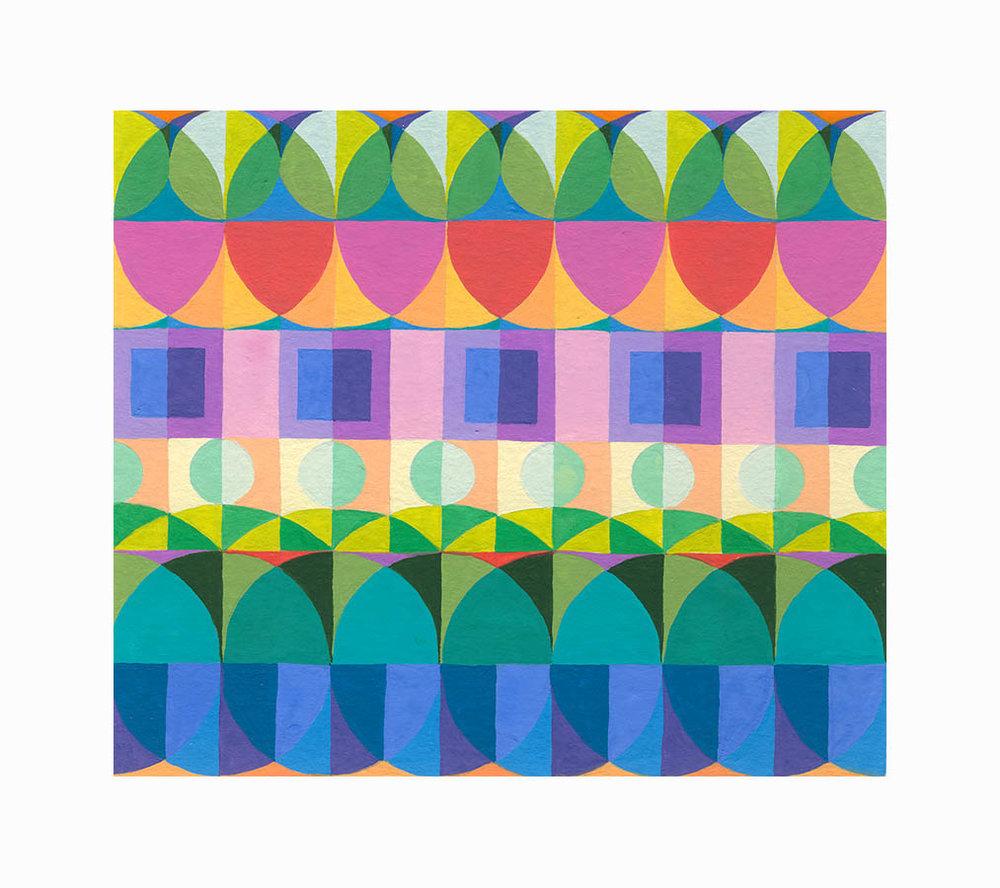 """Orderly Circus 3 , Gouache, 4.5""""x5.25"""", $150"""
