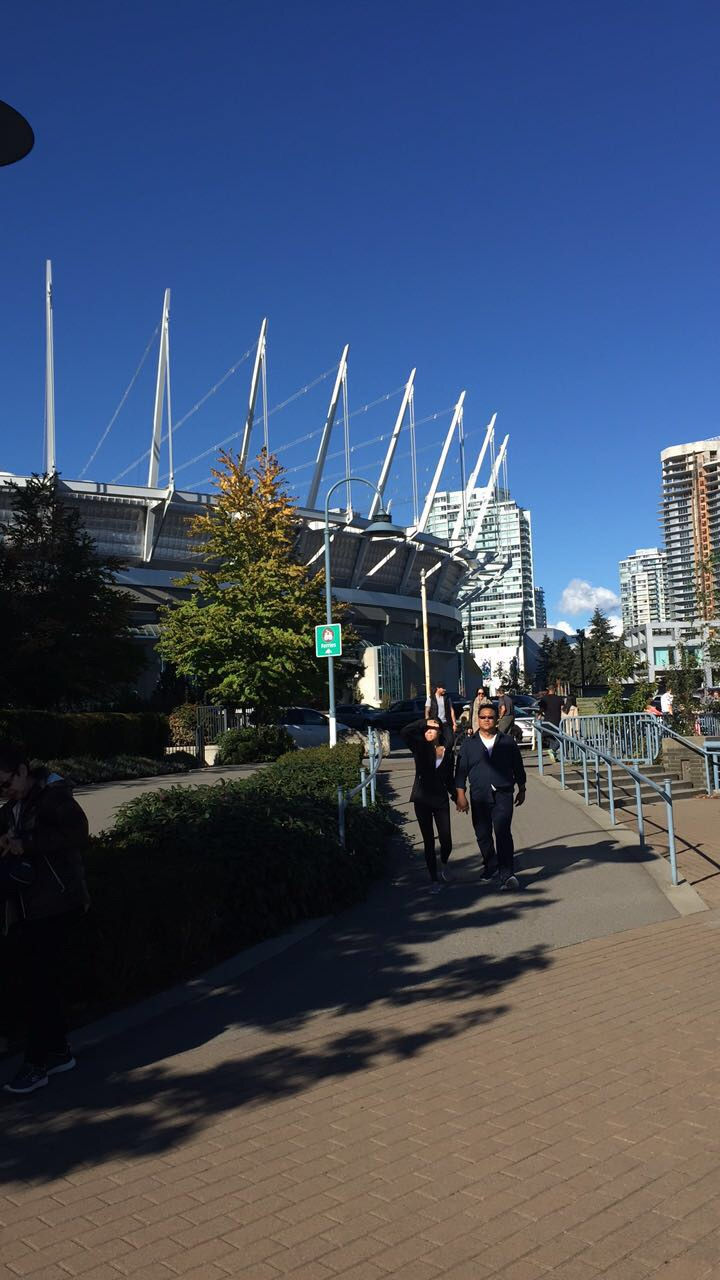 BC Place - home of the Vancouver Whitecaps! I think it looks like a crown ;)