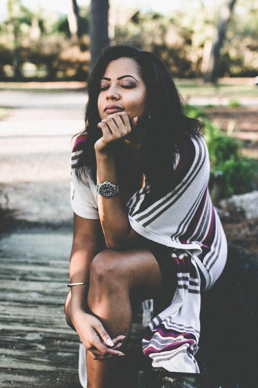 This shot is my favorite.  Dress: Chriss Zoe Boutique |Wrap: Francesca's