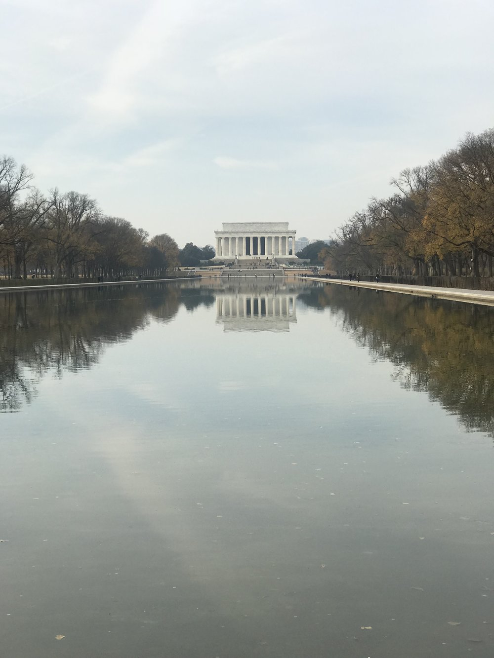 This view of the Lincoln Memorial is gorgeous! iPhone Camera ftw