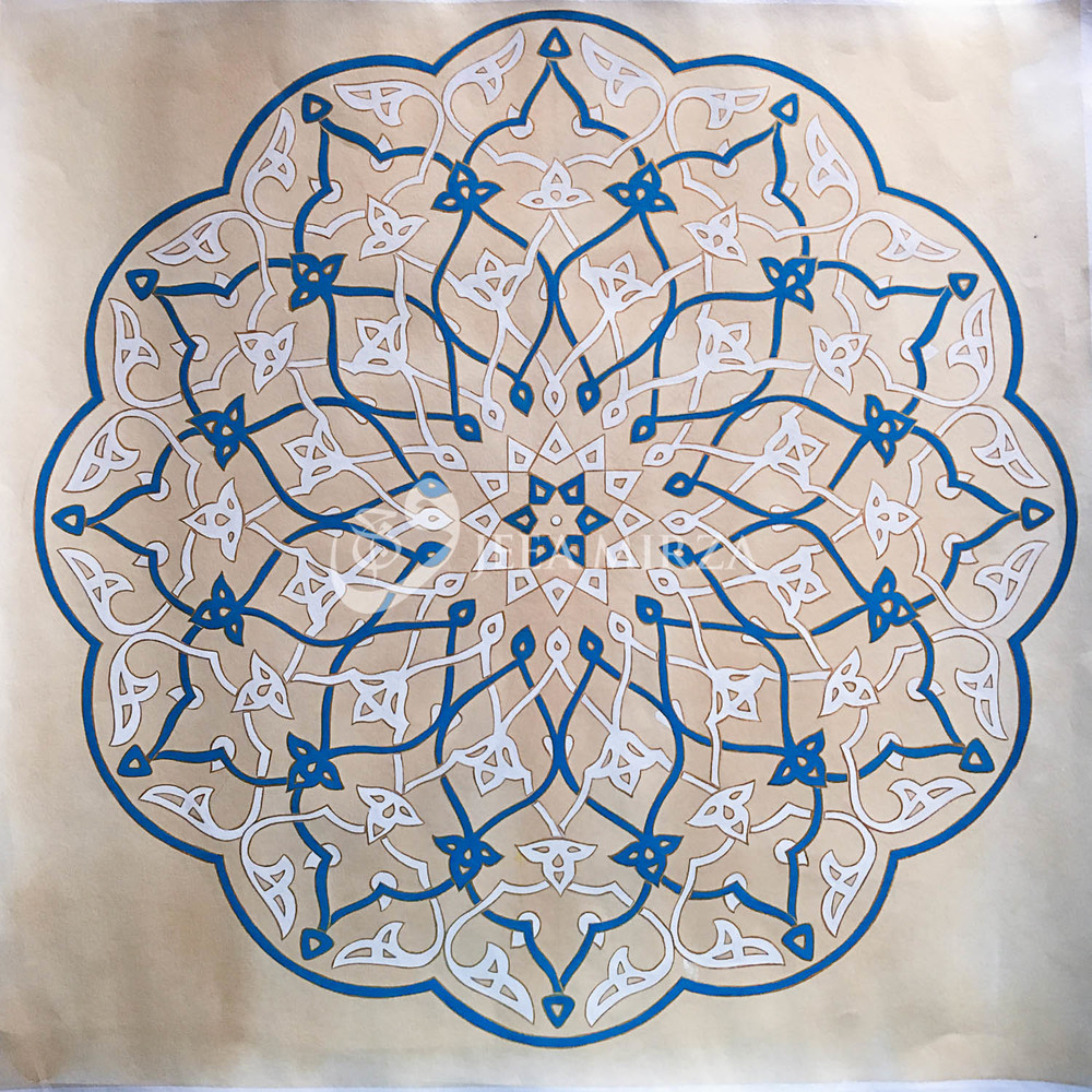 A pattern from The Jameh Mosque in Yazd, Iran