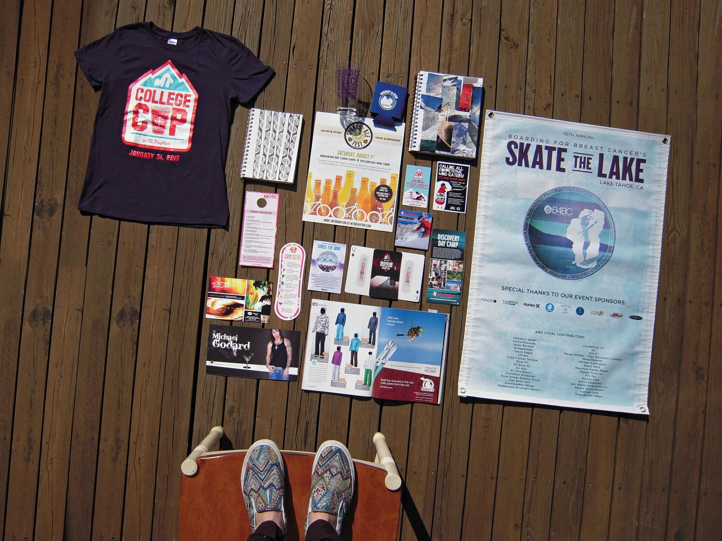 Graphic Design portfolio on my deck near Brighton Michigan