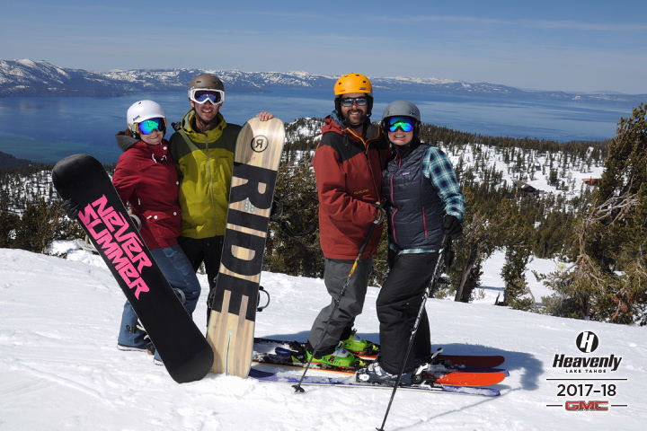 Easter Morning at Heavenly, Lake Tahoe with our amazing hosts Kristin and Chris.